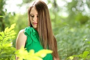 Die Haare schonend glätten