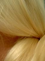 Blonde lange Haare