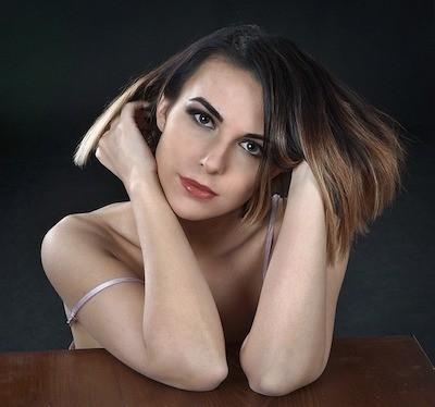 Frau mit schönen Haaren